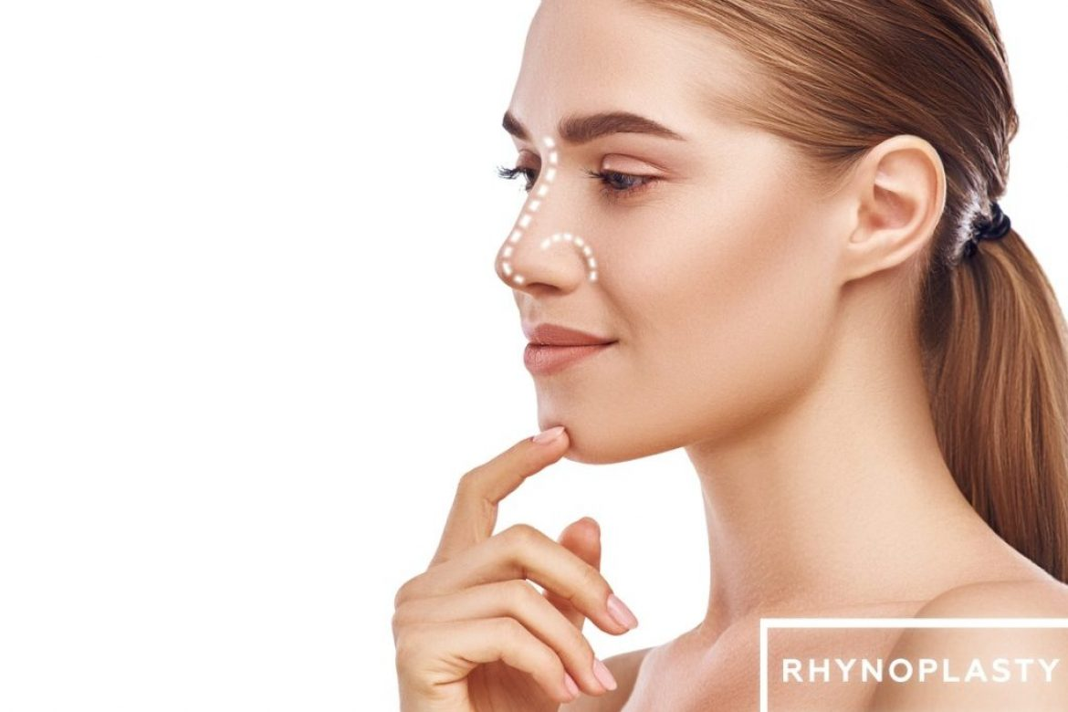 rhinoplasty-nose-surgery-side-view-of-attractive-young-woman-with-picture-id1142167563
